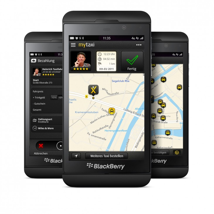 mytaxi BlackBerry